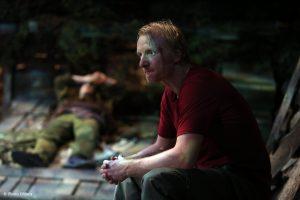 Richard Bovnoczki în No Man's Land - Fotografie de teatru - ghioca.eu